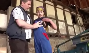 Dad Enmeshed German Step-daughter and Fuck her Open-air